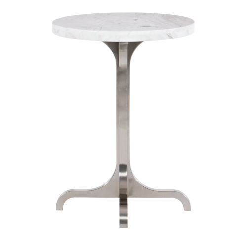 Decorage Stainless steel and Silver Mist  Chairside Table
