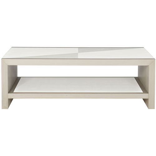 Axiom Linear Gray and Linear White 54-Inch Cocktail Table