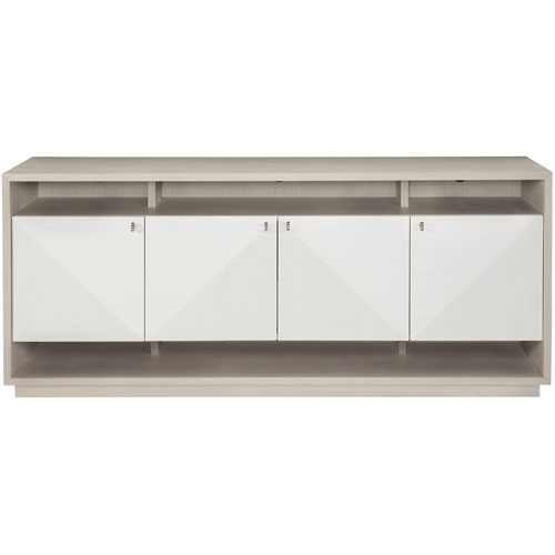 Axiom Linear Gray and Linear White 72-Inch Entertainment Console
