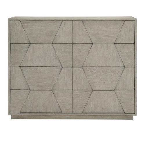 Linea Gray Eight-Drawer Dresser