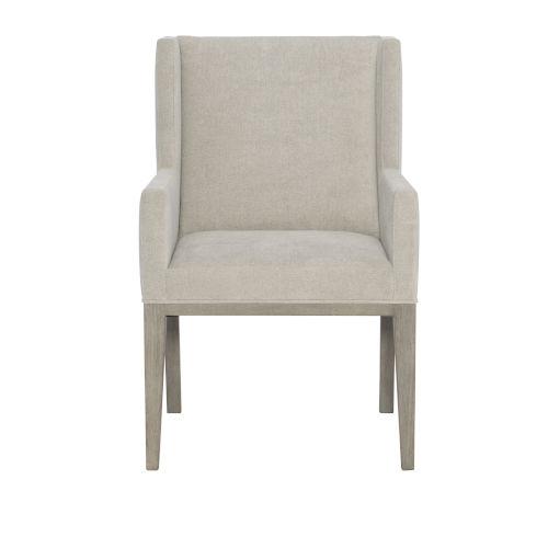 Linea Light Gray Dining Arm Chair