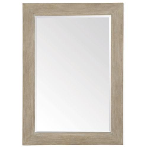Santa Barbara Sandstone Solid Ash and Mirrored Glass Mirror