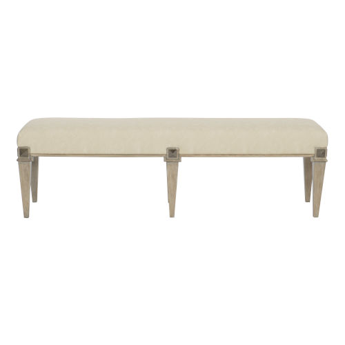 Santa Barbara Sandstone Vintage Nickel Metal Bench