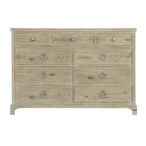 Rustic Patina Sand Nine-Drawer Dresser