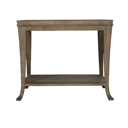 Rustic Patina Peppercorn Rectangle End Table