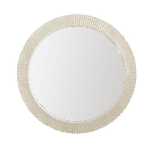 Light Gray East Hampton Round Mirror