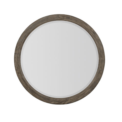 Taupe Canyon Ridge Round Mirror