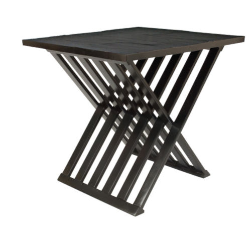 Powell Black 30-Inch End Table