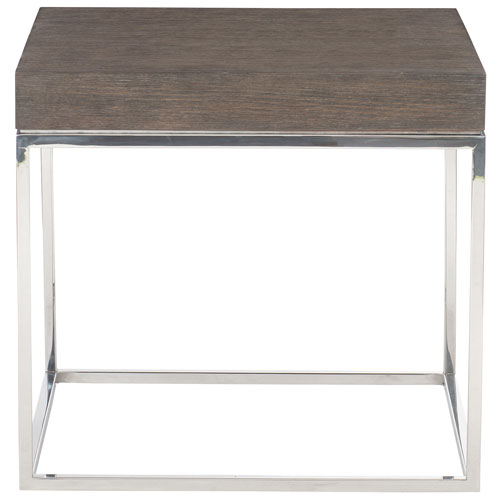 Freestanding Occasional Weathered Charcoal and Chrome 24-Inch End Table
