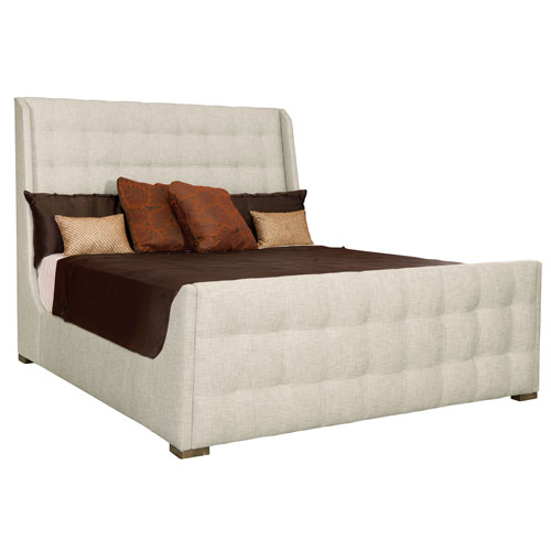 Soho Luxe Dark Caramel Wood and Fabric 67-Inch Bed