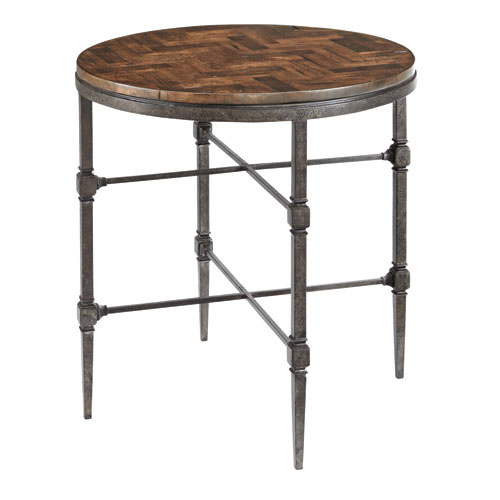 Freestanding Occasional Blackened and Brown 26-Inch End Table