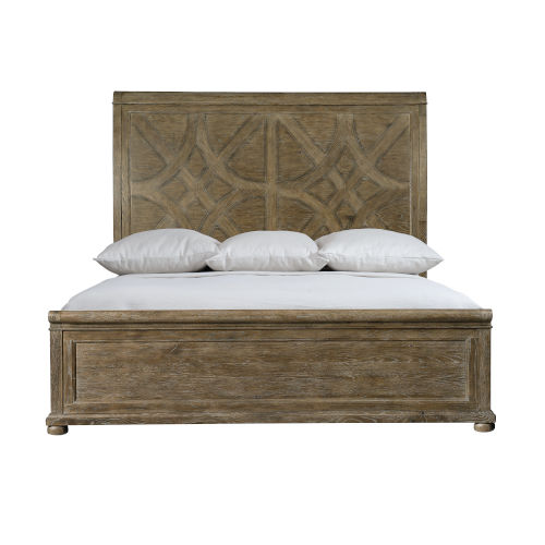 Rustic Patina Peppercorn Panel California King Bed