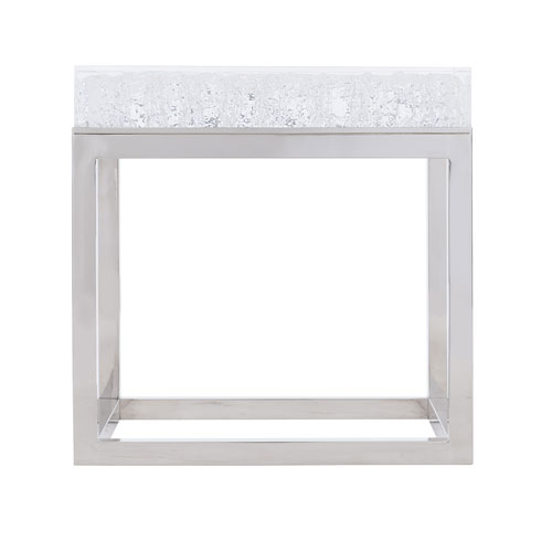 Exteriors White Aventura Square Acrylic End Table