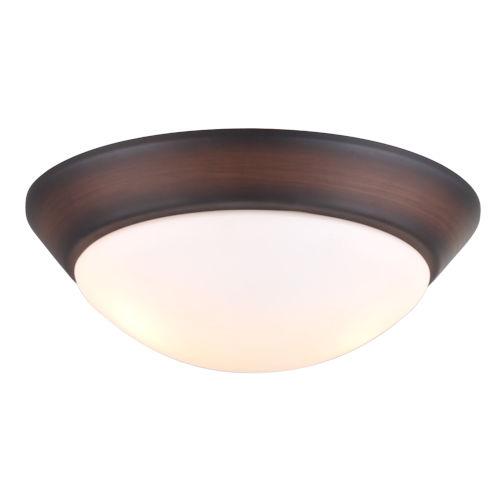 Oil Rubbed Bronze Two-Light LED Ceiling Fan Light Kit