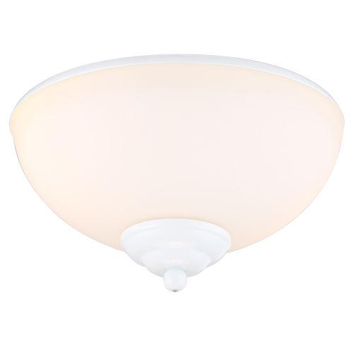 White Two-Light LED Ceiling Fan Light Kit