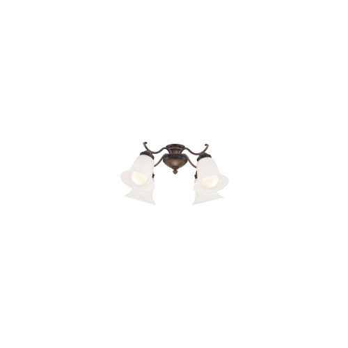 French Beige Four-Light LED Ceiling Fan Light Kit