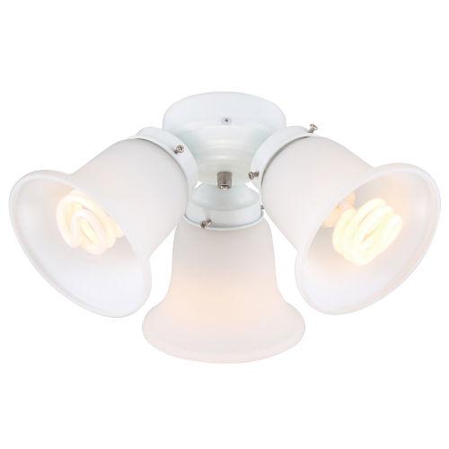 White Three-Light LED Ceiling Fan Light Kit