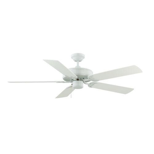 Dalton White 52-Inch Two-Light Ceiling Fan