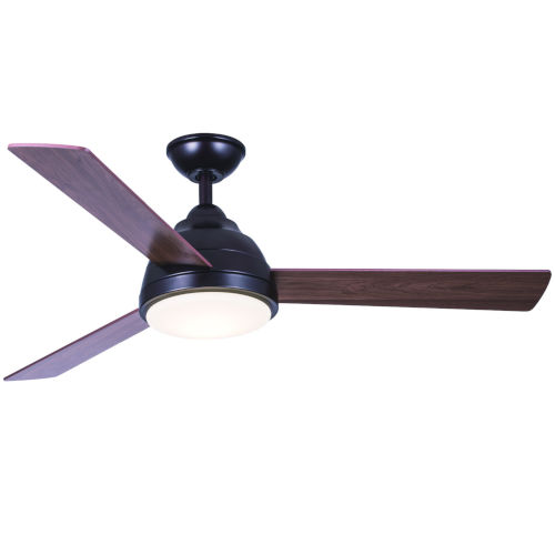 Neopolis Oil Rubbed Bronze 52-Inch Three-Blade LED Ceiling Fan