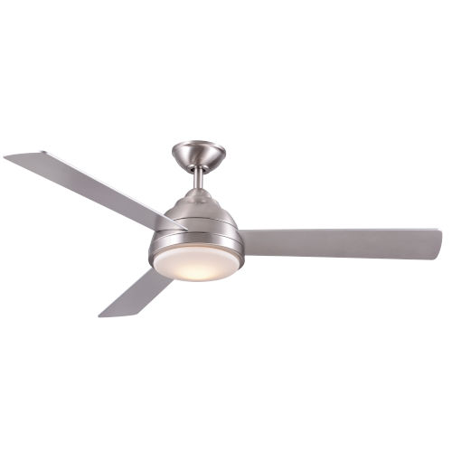Neopolis Stainless Steel 52-Inch Three-Blade LED Ceiling Fan