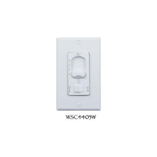 White Fan Light Wall Control