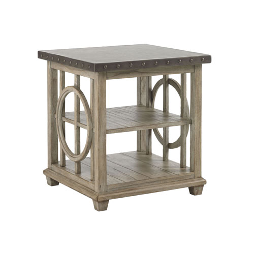 Twilight Bay Gray Wyatt Lamp Table