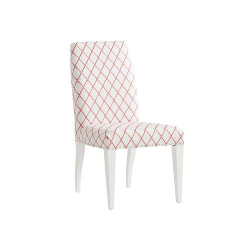 Avondale Linen White and Red Darien Upholstered Side Chair