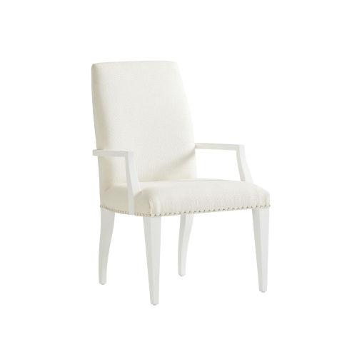 Avondale Linen White Darien Upholstered Arm Chair