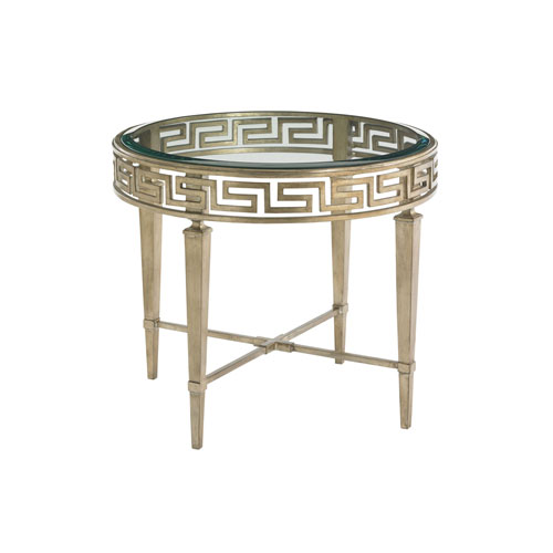 Tower Place Gold Aston Round Lamp Table