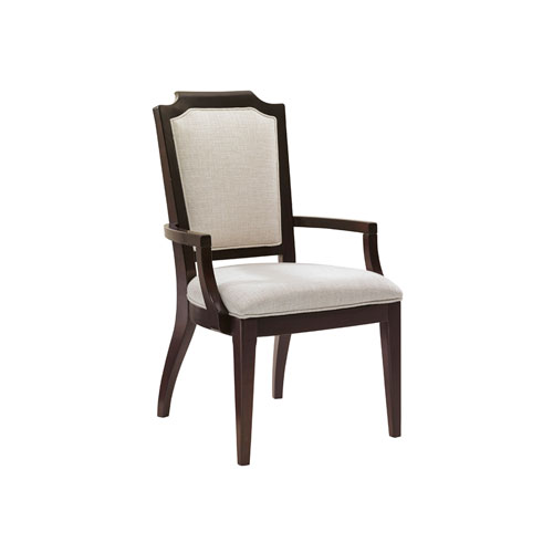 Kensington Place Brown Candace Dining Arm Chair