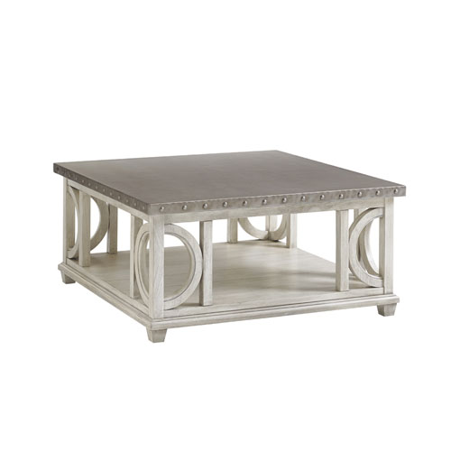 Oyster Bay White Litchfield Square Cocktail Table