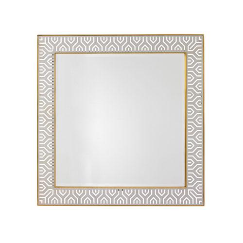 Take Five White Tribeca Square Mirror
