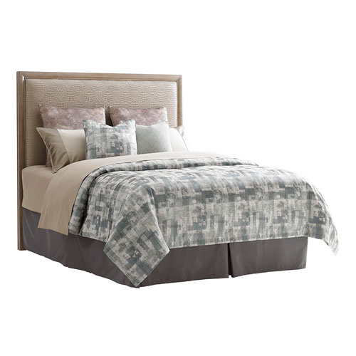 Shadow Play Beige and Gray Uptown Queen Panel Headboard