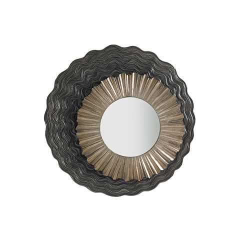 Shadow Play Silver Simone Mirror