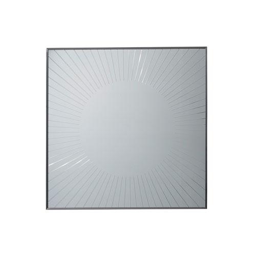 Macarthur Park Silver Calliope Square Sunburst Mirror