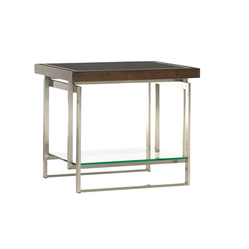 Macarthur Park Silver and Walnut Granville End Table