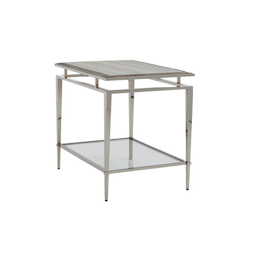 Ariana Silver Athene Stainless End Table
