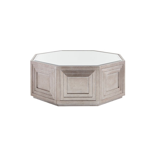 Ariana Silver Rochelle Octagonal Cocktail Table