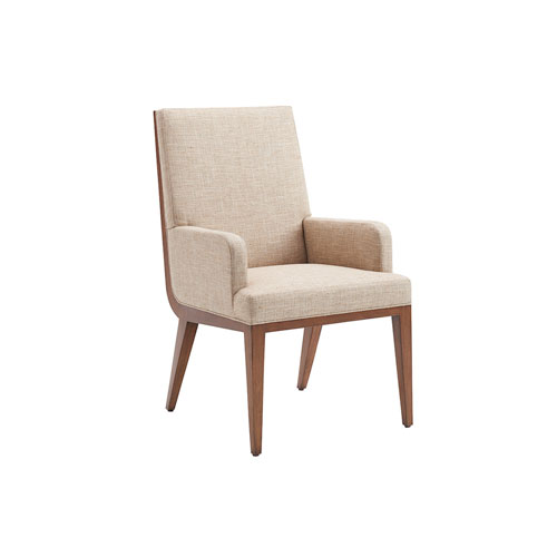 Kitano Beige Marino Upholstered Dining Arm Chair