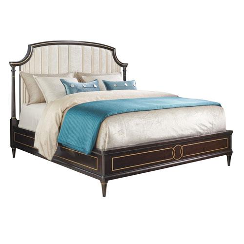 Carlyle Dark Brown Regency Upholstered California King Bed