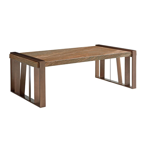 Zavala Brown Intersect Cocktail Table