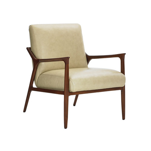 Take Five Beige Warren Leather Chair