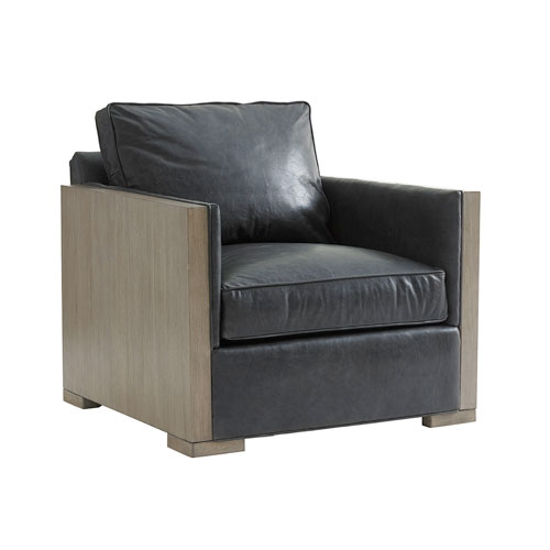 Shadow Play Black Delshire Leather Chair