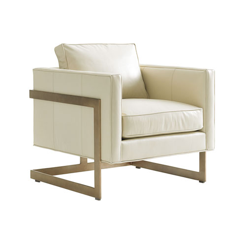 Shadow Play Cream Winthrop Leather Chair