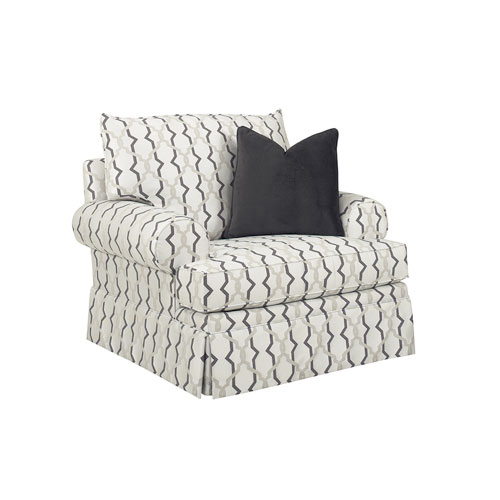 Lexington Upholstery White Townsend Swivel Chair