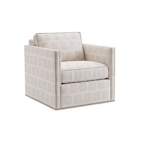 Lexington Kitano White Hinsdale Swivel Club Chair