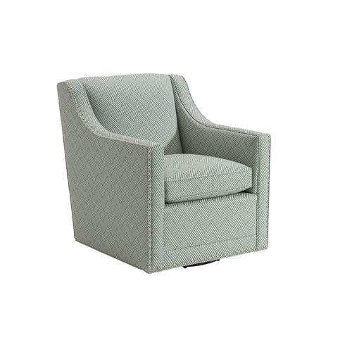 Upholstery Green Barrier Swivel Chair