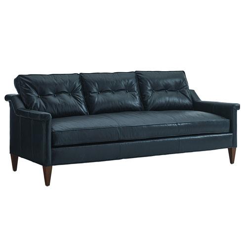 Take Five Blue Whitehall Leather Sofa