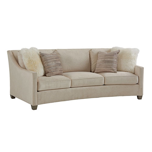 Lexington Ariana Beige Valenza Curved Sofa