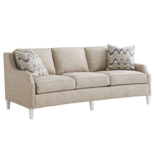 Avondale Beige and White Signac 88-Inch Sofa